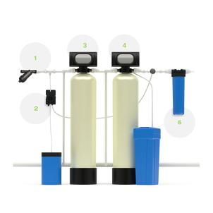 Система для осветления и умягчения жесткой воды, а также очистки от железа, марганца и органических примесей