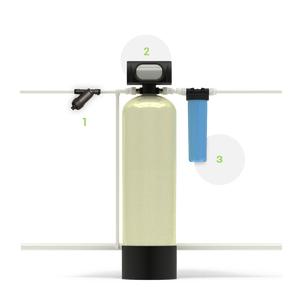 Система для очистки воды от нерастворимых примесей и железа